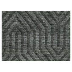 Rizzy Home Technique Collection Hand-Loomed 100% Wool Area Rug, Grey