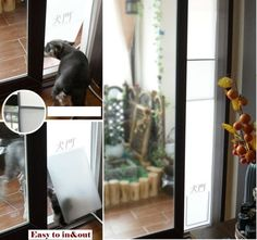 NEW PET DOG CAT DOOR IDEAL FAST FIT PATIO PET FOLDING Medium Replacement GATE -US $57.80
