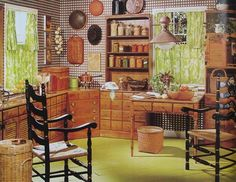 70s Decorating Style 1970s kitchen design - one harvest gold kitchen decorated in 6