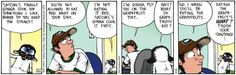 Cats don't know English...unless it suits them!     Get Fuzzy on Gocomics.com