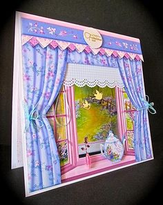 Card Gallery - BLUEBELL WOODS VIEW WINDOW APERTURE 8x8 Mini Kit