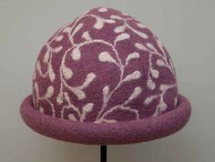 handmade felt hat  pure wool  circumference 5600 cm  by FeltMkr,