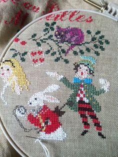 Almost Done.. Alice in Wonderland Cross Stitch