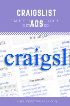 How To Place An Ad On Craigslist >> 9 Best How To Place An Ad On Craigslist For Instant Mlm
