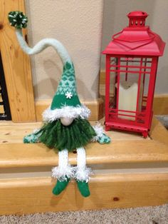 Handmade wool felted green gnome by HeidisGnomes on Etsy