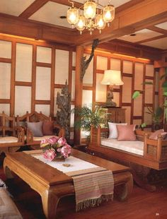 Thai style living room simple house home pinterest for Thailand home decor
