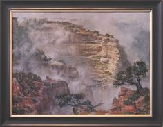 oil painting of grand canyon in frame - Google Search