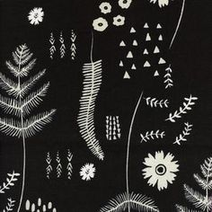 Cotton and Steel House Designer - Black and White - Fern Book in Black and White