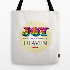 Serious Joy Tote Bag by Peter Gross - $22.00