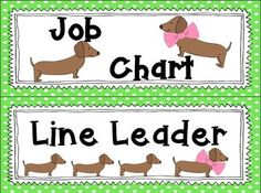 """FREEBIE in the download preview!!!!!  Classroom Theme~ Dachshunds! It's a WienerFul Classroom Theme!!! Do you LOVE dachshunds as much as I do???? Are you always BUMMED when you can NOT find anything """"WienerFUL"""" for your classroom???? WELL This classroom theme is for YOU!"""