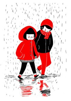 Heartwarming Illustrations Show That True Love Is In The Little Everyday Things - Even if you're feeling a bit blue, there's always someone that will hold your hand Art And Illustration, Illustration Mignonne, Character Illustration, Relationship Comics, Relationship Goals, Love Problems, True Love, Character Design, Sketches