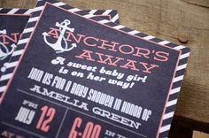 Nautical Inspired Whale Baby Shower Invitation: Ahoy, It's A Boy ...