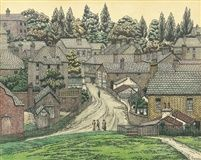 Charles Ginner (British/French, Title: Suburb of Harrow on the Hill Medium: watercolor and ink French Impressionist Painters, Impressionist Artists, London Art, East London, Landscape Art, Landscape Paintings, Camden Town, Camden Group, Cool Landscapes
