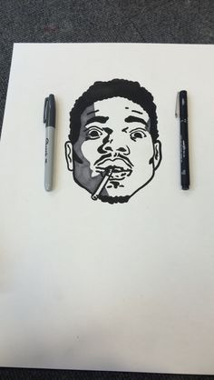 chance the rapper drawing Chance The Rapper Art, I Tattoo, Cool Tattoos, Acid Art, Hip Hop Art, Dope Art, Future Tattoos, Easy Drawings, Artsy Fartsy