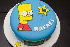 Bolo do Bart Simpson para festa de 10 anos do Rafael.