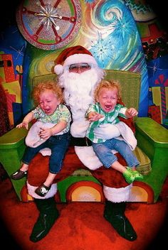 from San Juan sent us this photo of her sons meeting Santa! We don't know what the kids asked Santa for, but we bet Santa asked for some Advil. Send us your bad Santa photos! Wierd Pictures, Santa Pictures, Christmas Pictures, Meet Santa, Bad Santa, Christmas Wishes, All Things Christmas, Christmas Child, Christmas Humor
