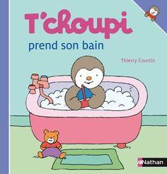Amazon.fr - T'choupi prend son bain - Thierry Courtin - Livres