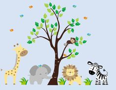 Here is one our cute nursery wall decal layouts and designs.  These wall decals are completely reusable and removable for lots of versatility.  https://www.etsy.com/listing/266077719/nursery-wall-decals-zoo-animal-wall?ref=shop_home_active_1 $169.95