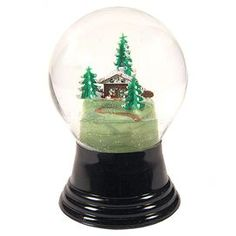 Winter Chalet Snow Globe