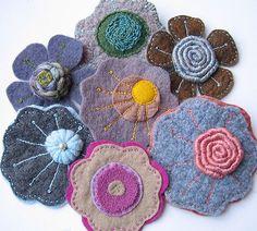 Crafts wonder woman t shirt walmart - Blouses and Tops Felt Flowers, Fabric Flowers, Wet Felting, Needle Felting, Felted Wool Crafts, Felt Material, Felt Brooch, Felt Applique, Felt Fabric