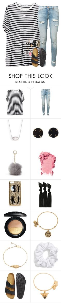 """next 2 u"" by hailstails ❤ liked on Polyvore featuring T By Alexander Wang, Off-White, Kendra Scott, Melissa Joy Manning, Nine West, Chiara Ferragni, Emi-Jay, MAC Cosmetics, Natasha Couture and Birkenstock"
