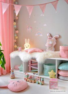 Set up & design children's room in pink - Kinderzimmer Baby Bedroom, Baby Room Decor, Nursery Room, Boy Room, Girl Nursery, Girls Bedroom, Nursery Decor, Child Room, Baby Room Design