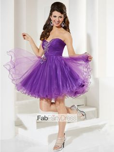 A-line Sweetheart  Applique  Sleeveless Short / Mini  Tulle  Cocktail Dresses / Homecoming Dresses