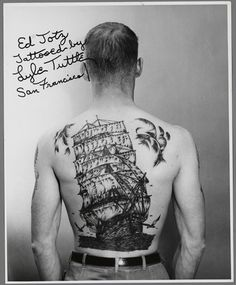 Ed Jotz, tattooed by Lyle Tuttle