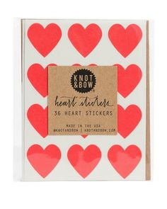 remember those little red heart stickers that came with your valentines that you always wanted to keep for yourself? these stickers from knot & bow are just like those but way better because you can get them year-round! Pyjamas Party, Tout Rose, Heart Garland, Red Party, Card Envelopes, Round Stickers, Holiday Cards, Party Supplies, Valentines Day