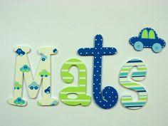 Pintadas con letras de madera colorido nombre de por BelArtStore