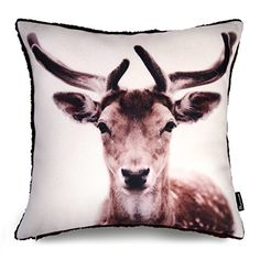 Phantoscope Woolen Square Decorative Throw Pillow Case Cushion Cover Colour Painting Reindeer 18x18 *** Read more  at the image link.