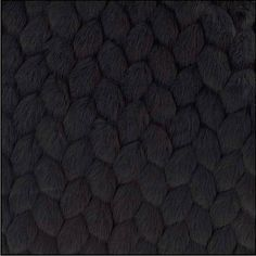 Fabric faux fur VOGUE black fabrics nadège 1/2 meter