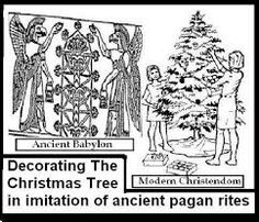 pagan origin of the christmas tree is another reason for not celebrating