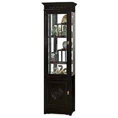 Hand Crafted 21in Longevity Design Rosewood Curio Cabinet  Black Ebony *** You can get more details by clicking on the image.