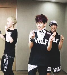 Kai: gets totally into it  Baekhyun: just adorable :3 Lay: I don't even know.....
