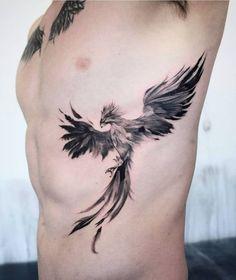 Phoenix Tattoo Feminine, Phoenix Tattoo Men, Small Phoenix Tattoos, Small Tattoos, Tribal Tattoos, Mom Tattoos, Body Art Tattoos, Tattoos For Guys, Animal Tattoos For Men
