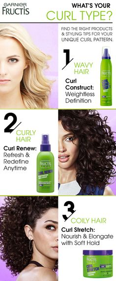 Do you have waves, curls or coils? Identify your curl type and get product recommendations for strong, frizz-free curls. From style galleries to how-tos, find endless inspiration and discover the power of curls that can do anything.  Learn more at Garnierusa.com/curls