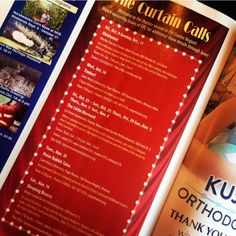 Curtain Calls!  Check out the Fall issue of Coulee Parenting Connection magazine for the upcoming theater schedule.