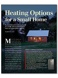 Heating Options for a Small Home