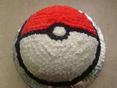 POKEMON...POKEBALL...AWESOME making a pokeball cake for my sons 6th birthday