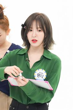 Photo album containing 37 pictures of Red Velvet Seulgi, Hd Make Up, Shot Hair Styles, Wendy Red Velvet, Velvet Hair, Ulzzang Girl, Medium Hair Styles, Kpop Girls, Red Hair