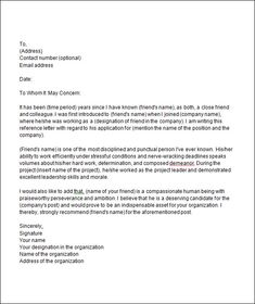 Business letter of reference template httpbusinesslovetoknow how to write a letter of recommendation for a friend spiritdancerdesigns Gallery