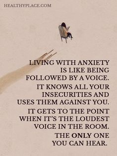 Having anxiety is a daily battle within yourself..... it's wanting control but being completely out of control