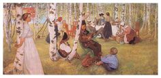 For Karin's name day - Carl Larsson - WikiArt.org