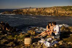 Picnic vistas al mar fotografo boda Coruña www.veroa.es Fotografía artística de boda