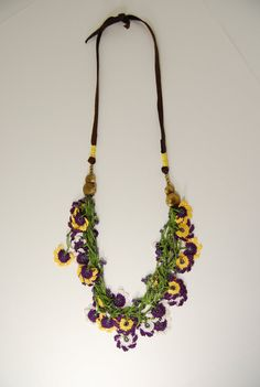 Spring is here! Unique ooak purple yellow and by Kisa Collections, $158.00