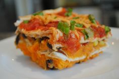 Vegan Layered Sweet Potato Enchilada Casserole... If I get too lazy/nervous to make seitan tonight?