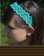 Free Crochet Pattern: Hairpin Lace Crochet Hairband/Headband | By Number 19. Can use as edging