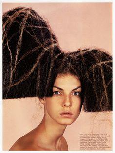 harpers bazaar us beauty 1999 hair nicolas jurnjack  http://instagram.com/nicolasjurnjack   http://hairblog.nicolasjurnjack.com https://www.facebook.com/ model angela lindvall styling tonne goodman