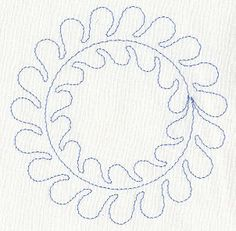 Feather Quilting Circle (Single Run) Machine Embroidery Quilts, Machine Quilting Patterns, Embroidery Files, Quilting Designs, Cross Stitch Embroidery, Machine Embroidery Designs, Embroidery Patterns, Quilt Patterns, Free Motion Quilting